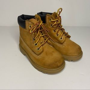 "Timberland toddler 6"" premium waterproof boots."